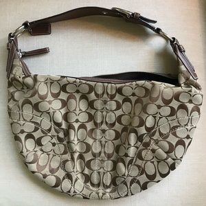Large Coach Hobo Monogram Bag
